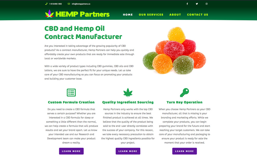 Hemp Partners Launches New CBD Website