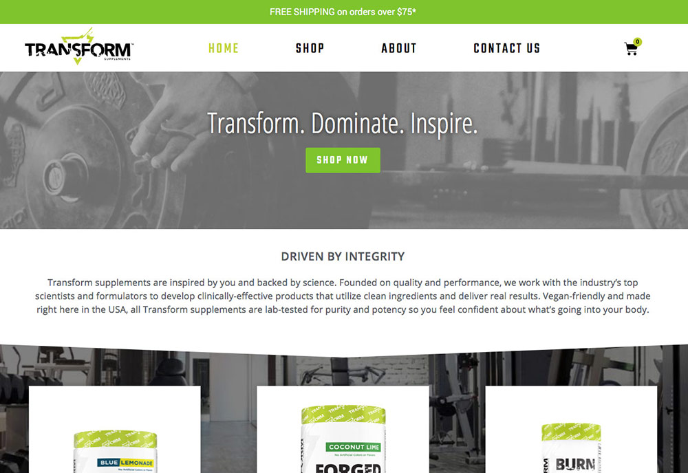 Transform Supplements Returns with New Branding